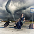 Womand tornado — Stock Photo #14859579