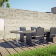 Foto Stock: Outdoor office