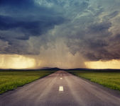 Road to storm — Stock Photo