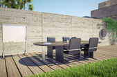 Outdoor office — Foto de Stock