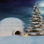 iglo Natale — Foto Stock