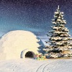 Christmas iglo — Stock Photo