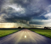 The road to storm — Stock Photo