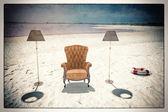 кресло на пляже — Стоковое фото