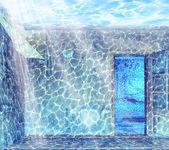 Underwater interior — Stock Photo