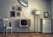 Retro-interieur — Stockfoto