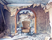 Burned interior — Foto Stock