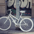 White bicycle — Stock Photo