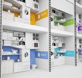 Futuristic apartment building — Stock Photo
