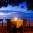 Dinner on sunset — Stockfoto