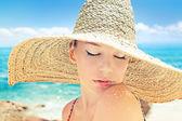 Woman on a beach — Stock Photo