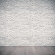 White brick wall  — Stockfoto