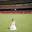 Girl in stadium — Stock Photo #2565436