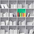White bookshelves — Stock Photo #25909573