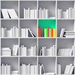 White bookshelves — Stock Photo