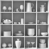 Platos blancos — Foto de Stock