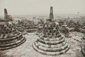 Borobudur Temple in stereo — Stock Photo