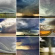Storm Clouds set — Stock Photo