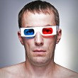 Man head with 3D glasses — Stock Photo #3585637