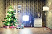 Christmas interior — 图库照片