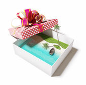 Island in the gift box — Stock Photo