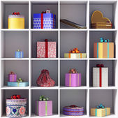 Set of gift boxes — Stock Photo