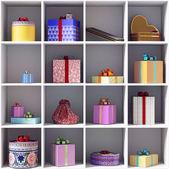 Sada dárkových krabiček — Stock fotografie