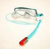 şnorkel ve dalış için maske — Stok fotoğraf