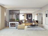 Modernt vardagsrum — Stockfoto