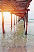 pier sunset — Stock Photo