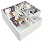 Plan view of an apartment — Stock Photo
