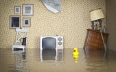 Flooded interior — Stock Photo
