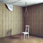 Chair and noose — Stock Photo