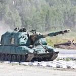 Russian Self-propelled gun — Stock Photo #48411273
