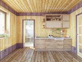кухня в загородном доме — Стоковое фото