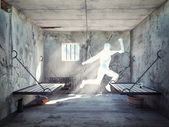 Escape from a prison cell  — Stock Photo
