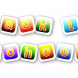 Royalty-Free Stock Photo: Back to school color letters