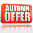 Autumn offer banner — Stock Photo