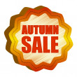 Foto Stock: Autumn sale starlike label