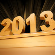 Stock Photo: Golden 2013 on a pedestal