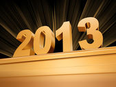 Golden 2013 on a pedestal — Stock Photo