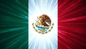 Mexican flag with light rays — Stock Photo