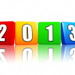 Stock Photo: Year 2013 in color cubes