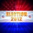 Election and year 2012 with shining american flag and stars - Stock Photo