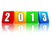 Year 2013 in color cubes — Stock Photo