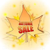 Podzimní prodej v list — Stock fotografie