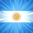 Argentine flag with light rays — Stock Photo