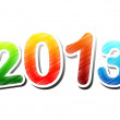 Stock Photo: Year 2013 colorful drawing