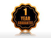 Garantia de um ano igualam rótulo — Foto Stock