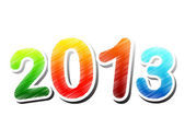 Year 2013 colorful drawing — Stock Photo
